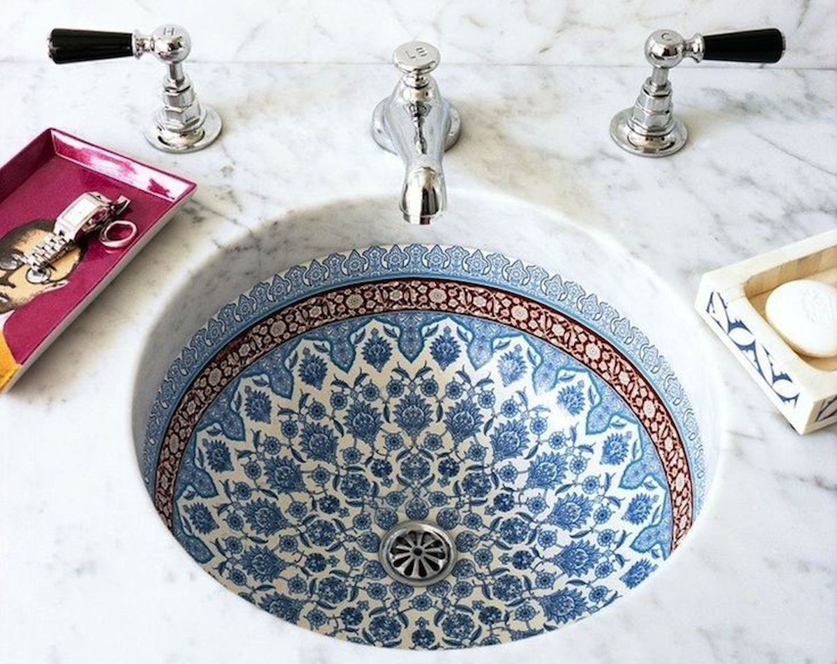 HeyRashmi home decor ideas - decorative Moroccan sink1